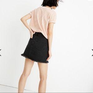 NWT Madewell Rigid denim mini skirt in lunar wash